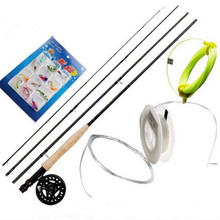 AIXI Hot sell 2.74m 5/6# fly fishing rods fly reels with line lure 6 kinds fly fishing tackle Super Set suit kit