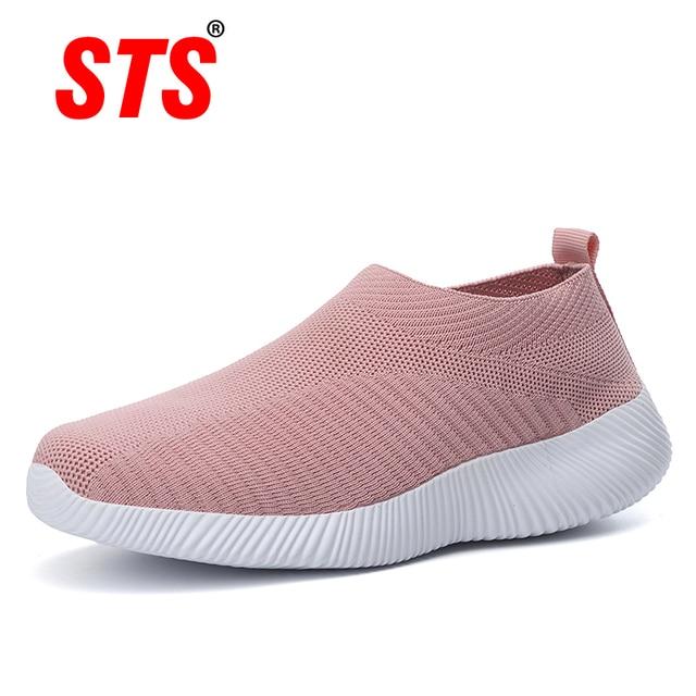 Women Shoes Knitting Sock Sneakers Plus Size43 Fashion Women Vulcanize Shoes Female Air Mesh Sneakers Flat Casual Tenis Feminino 1