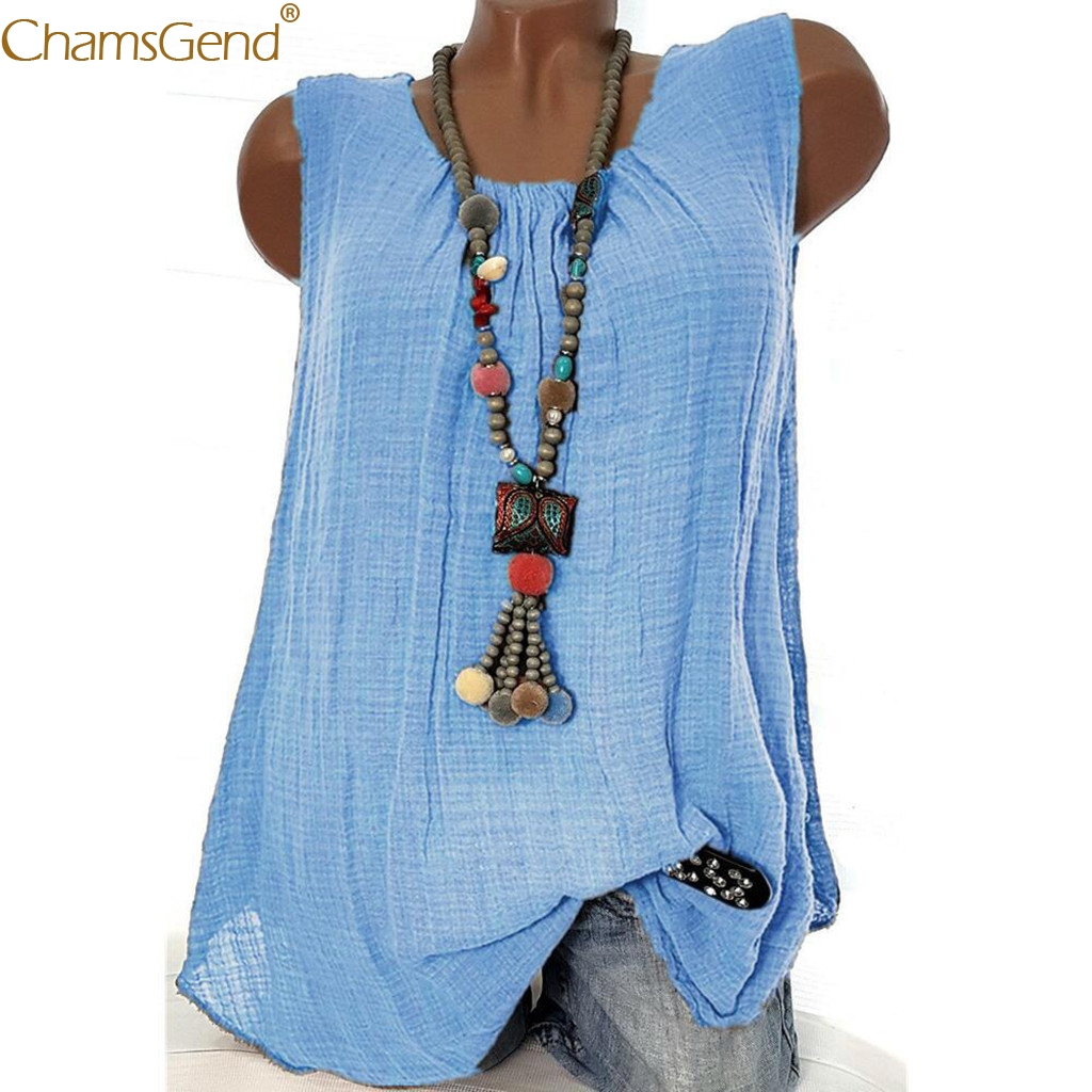 Summer Tank Tops Women Sleeveless tank tops women summer Roun d Neck Loose Ladies Vest Singlets Cotton Tank Tops Plus Size Mar13