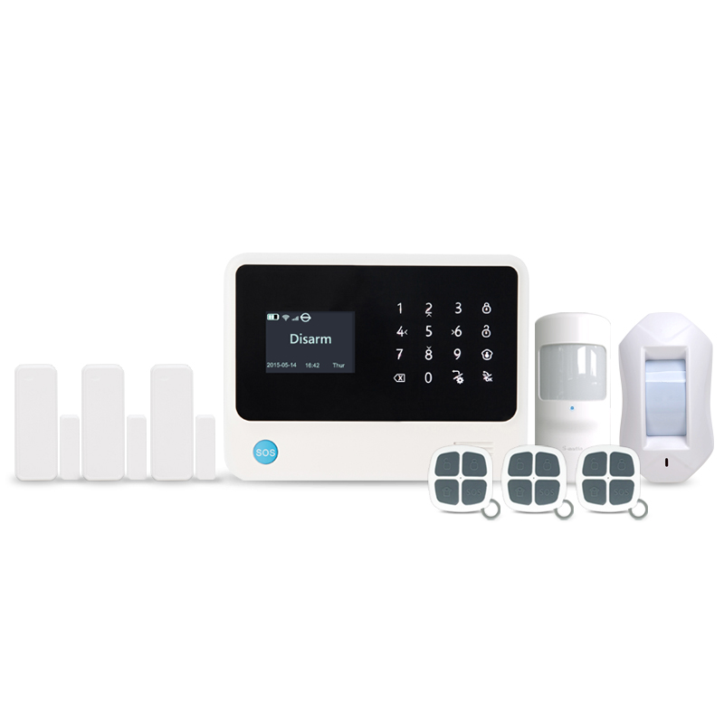 433MHz WIFI Alarm Home Security System GSM WIFI GPRS SMS Android IOS APP Control Burglar Alarm curtain PIR sensor alarm kit yobangsecurity gsm wifi burglar alarm system security home android ios app control wired siren pir door alarm sensor