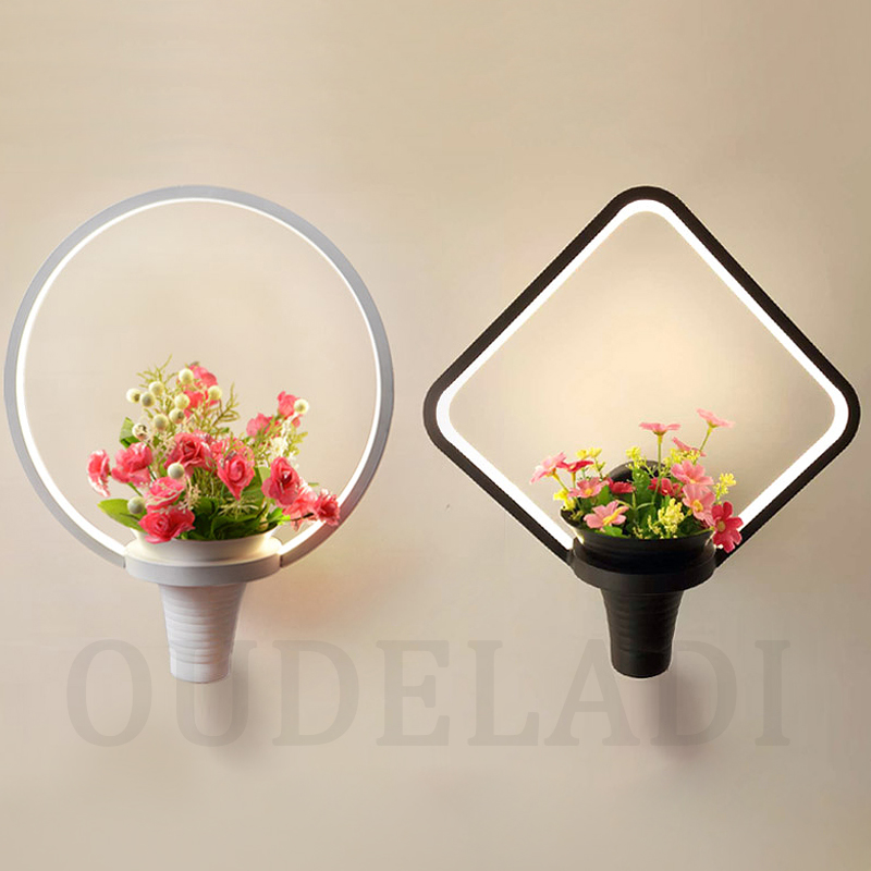 Modern LED round / Ling shape / square Tian Garden Wall Lamps personality stairs simple bed bedroom living room