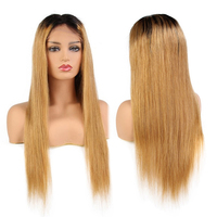 10 24 Ombre Color 1b/27 Remy Brazilian Full Lace Human Hair Wigs Pre Plucked Natural Hairline Wigs
