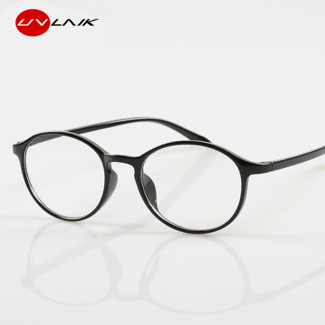 UVLAIK Presbyopia Reading Glasses Round Women Men Diopter Presbyopic Spectacle Glasses Reader Eyeglasses +1.0 1.5 2.0 2.5 3.0