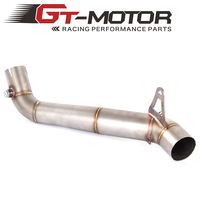 GT Motor Motorcycle 61mm Exhaust middle pipe for HONDA CBR1000RR 2008 2016 Slip On
