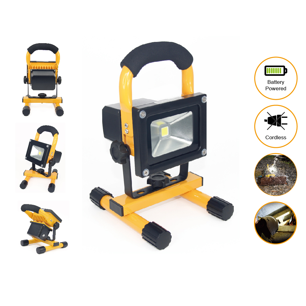 LED Rechargeable Flood light portable Emergency led flood lighting Waterproof 10W LED Outdoor Street Wall Lamps F024-2 1pcs portable 20w rechargeable led floodlight ac 85 265v waterproof emergency light camping outdoor lighting lamps