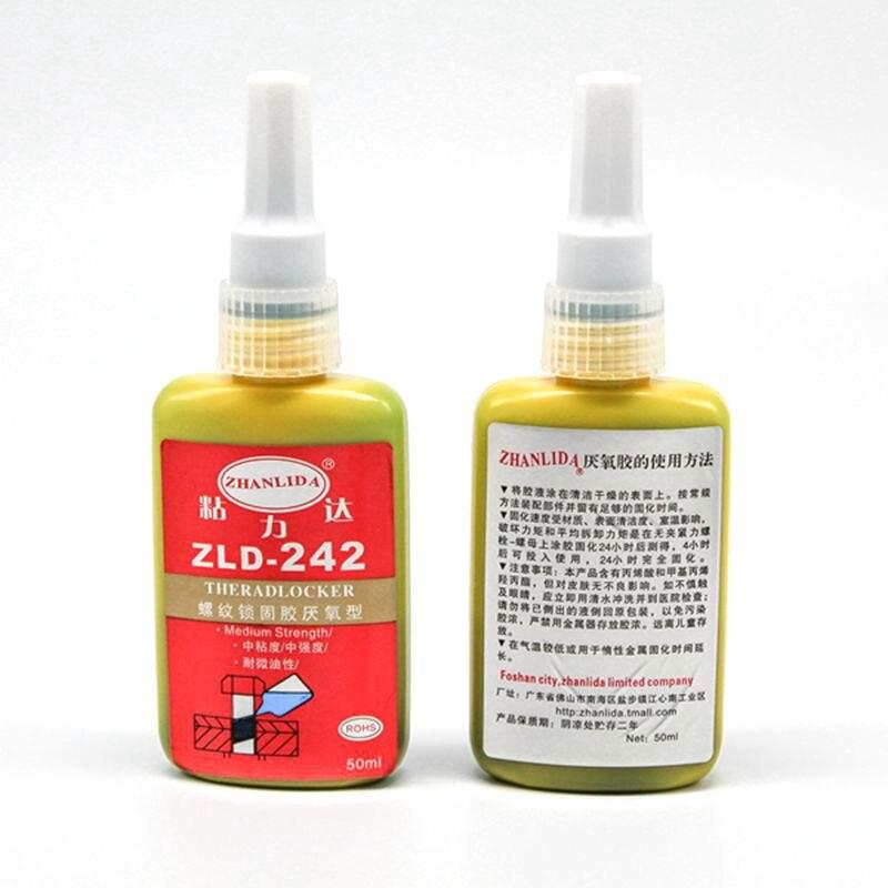 1pcs 50ml 242 anaerobic adhesive oil fast curing screw thread locking agent 1pcs 242 glue screw glue blue glue anaerobic adhesive 5ml thread locking glue