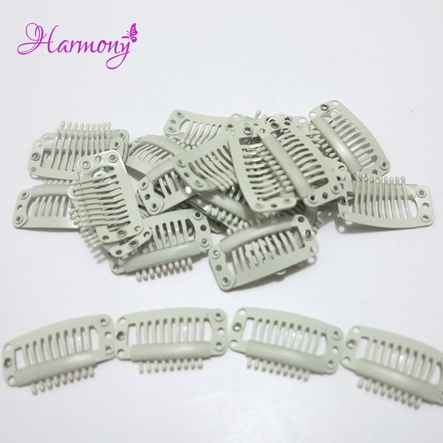 500 Pieceslot 32cm 9 Teeth Hair Extensions Tools Wig Silicone