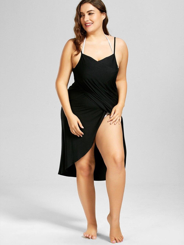 HTB1mQ3AaCSD3KVjSZFKq6z10VXaF Wine Red Sarong Beach Dress 2019 Holiday Beachwear Women Summer Dress Beach Sexy Robe Spaghetti Straps Big Size Wrap Vestido 5XL