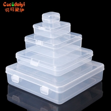 Square Transparent Plastic Jewelry Storage Boxes Beads Crafts Case Containers Nov