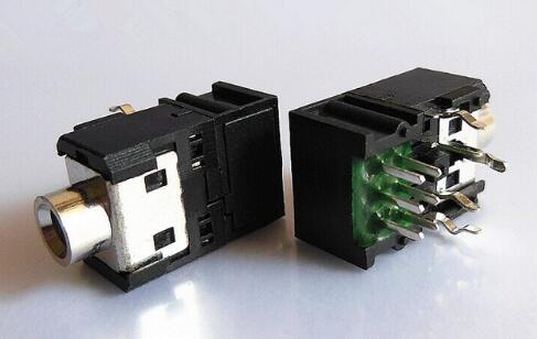 5PCS 3.5mm Female Audio Connector 5 Pin DIP Headphone Jack Socket PJ-306B