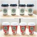 4 ШТ. 1/6 Starbucks Coffee Cup Модель Миниатюрные Напитки Куклы Еда аксессуары для re-ния Размер Игрушки или BJD Kurhn Кен Барби кукла