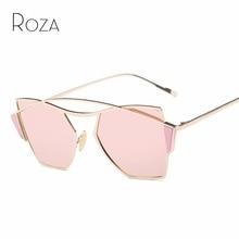 74baa16c63ad8 Óculos De Sol Das Mulheres Quadro Oval ROZA Estilo Steampunk Óculos Retro  Marca Designer Venda Quente Óculos de Sol UV400 QC0444