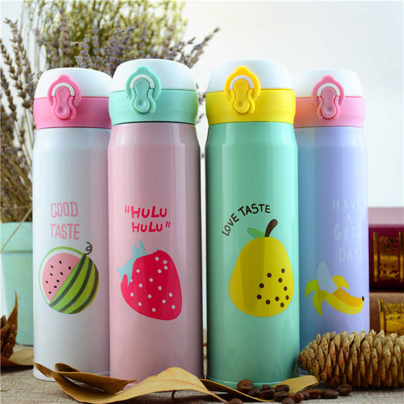450ml Tea Coffee Mug Water Bottle Vacuum Cup Thermos Stainless Steel Thermo cup Travel Drink Bottle Drinkware thermos for women