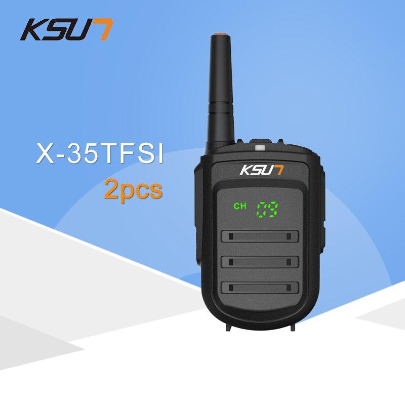 2 pz KSUN X-35TFSI Walkie Talkie 8 w Palmare Pofung UHF 8 w 400-470 mhz 128CH A Due vie portatile CB Radio