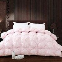 Weiß Rosa Grade Eine Natürliche 95% Gans Daunendecke Twin Königin King Size 750FP Quilt Gemütliche Licht Warm für Allergiker Schlafzimmer