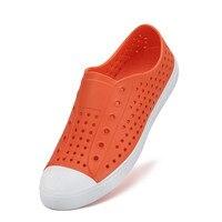 Новая летняя обувь на плоской подошве женские пляжные сандалии дышащие лоферы с перфорацией обувь для пар Уличная обувь без застежки на пла...