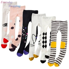 Tights for Girls Lovely Infant Baby Cartoon Cat Spring Pantyhose Cotton Tights Long Stockings Toddler Girls