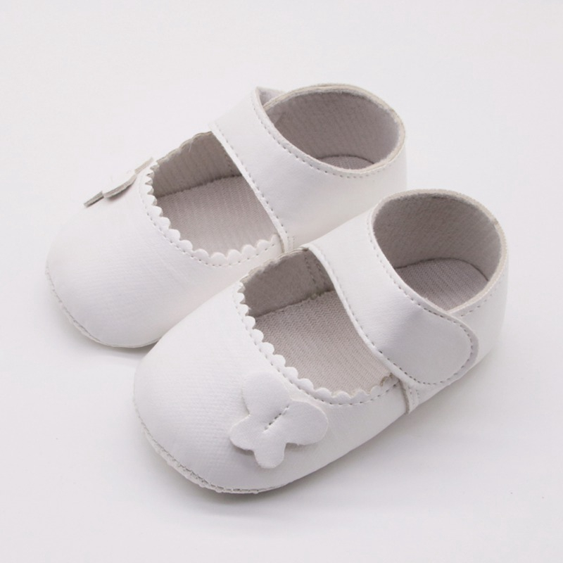 Baby Girls Shoes 0-18 Months Toddler Infant First Walkers Spring Autumn Soft Sole Non-Slip PU Princess Casual Shoes With Flower
