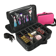 цена на Cosmetic Bag Travel Makeup Organizer Cosmetics Pouch Bags Make Up Bags Maleta De Maquiagem Profissional Toiletry Bag