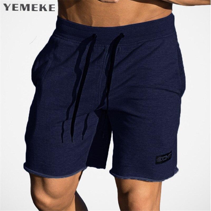 YEMEKE Fitness Shorts Gyms Professional Bodybuilding Casual Brand Top-Quality Size-M-Xxl
