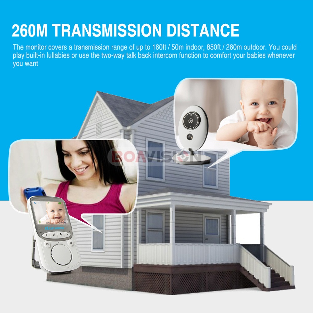 2 Inch Wireless Baby Monitor With Video And Radio As Mini Camera To Record your Baby At Home 1