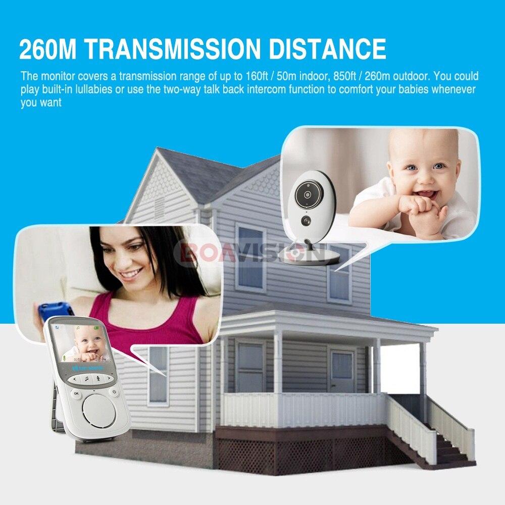 BOAVISION VB605 portátil de 2,4 pulgadas LCD Wireless Baby Monitor Video Radio cámara de niñera intercomunicador IR Bebe Cam Walkie hablar con la niñera - 2
