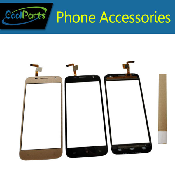 1PC/Lot High Quality 5.0 Inch For Uhans A101 A101s Touch Screen Digitizer Touch Panel Lens Glass Black White Gold Color +Tape