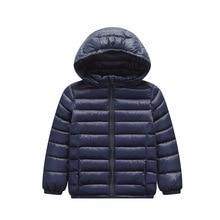 Girls Jackets Outerwear Parka Hood Spring Autumn Boys Children's Down for Winter 90%Duck