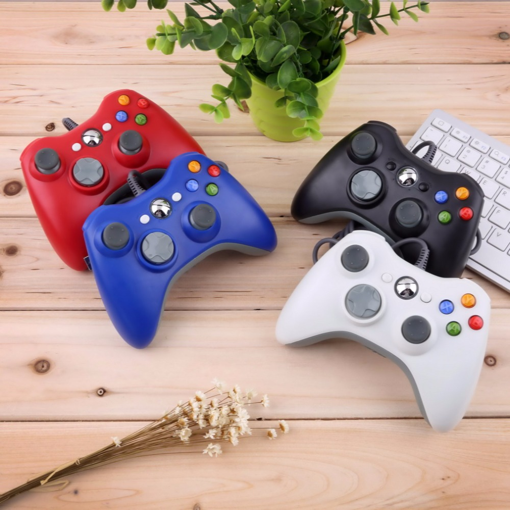 For Microsoft Xbox 360/Xbox Slim 360 Controller Wired Joystick USB Gamepad Android Smart TV Box Game ad Gaming PC Gamer Joypad bluetooth wireless gamepad controller for microsoft xbox one slim console gamepad pc joypad game joystick for pc win7 8 10