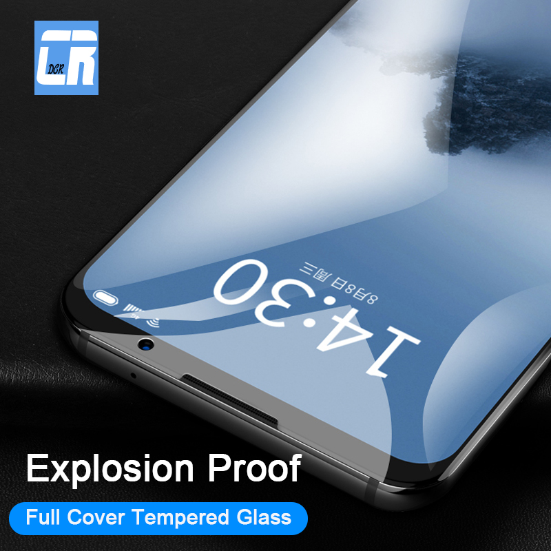 Tempered Glass For Meizu 15 Lite Plus M15 Screen Protector Full Cover 9H Protective Glass For Meizu Note 8 X8 V8 M6T 16X Film