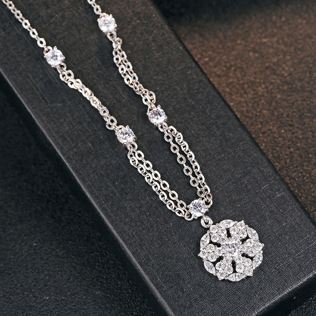 Luxury Galaxy CZ 925 Sterling Silver Pendant Christmas Charms Accessories Luxury Brand Crystal Floating Locket Pendulum Jewelry