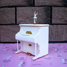 2017 Fashion Modeling White Music Box Piano Music Box Ballerina Girl Birthday Gift Delicate Ornaments Ballerina Musical Boxes