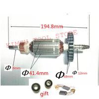 AC220 240V Armature Rotor Motor Engine for Replacement 6 Teeth MAKITA 9227CB 9237CB 9227C Armature