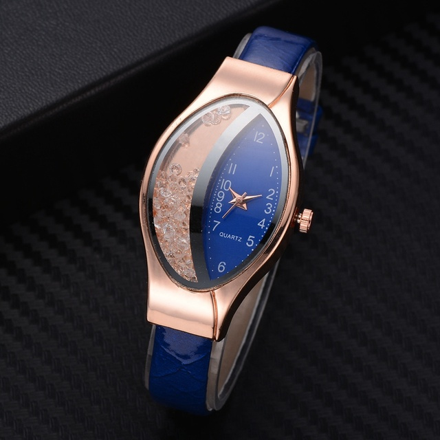 Semilunar Flow Sand Ellipse Woman Fine Strap Small Dial Watch Luxury Brand Bracelet Wristwatch Ladies Dress Clocks