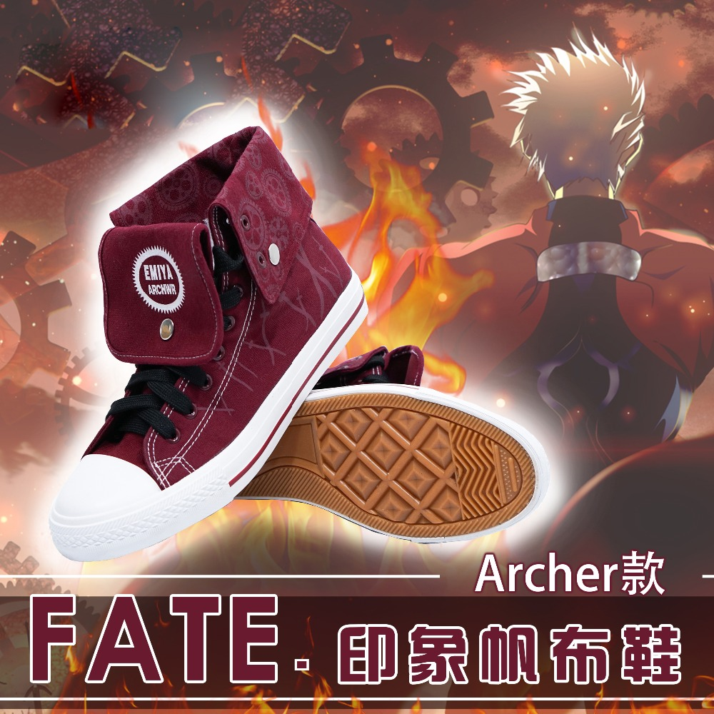 Japanese Anime Fate stay night EMIYA Gilgamesh Cosplay Canvas Shoes Unisex Student Couples Casual High Top Sports shoes
