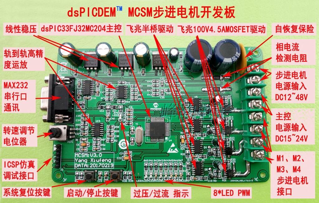 все цены на DsPICDEM MCSM stepper motor development board, dsPIC33FJ32MC204 development board, DM330022 онлайн