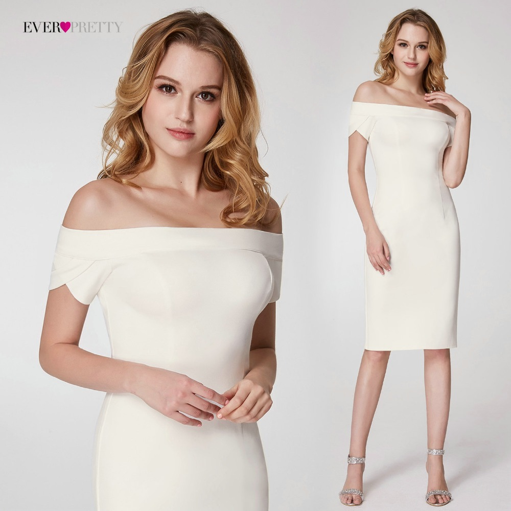 Ever Pretty New 2018 Short Fashion Elegant Medium Sleeve Cheap Bodycon Dress EP05968 Cocktail Dresses knee Length Vestido coctel