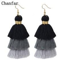 8Colors Ethnic Style Statement Tassel Earrings Bohemian Large Big Dangle Drop Long Earring Women Boho Jewelry