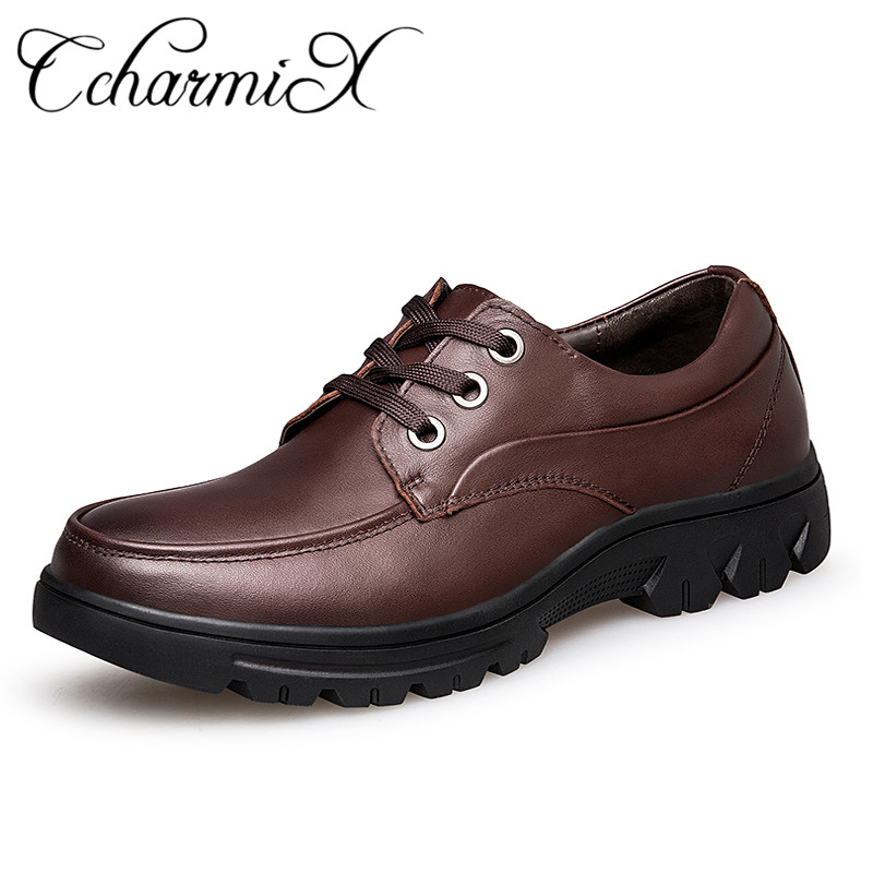 Moda Mens Casuais Sapatos Vaca De 49 Flats Ccharmix Confortável Blacck brown Lace Artesanal up Size Homens Couro Plus WqvXg6