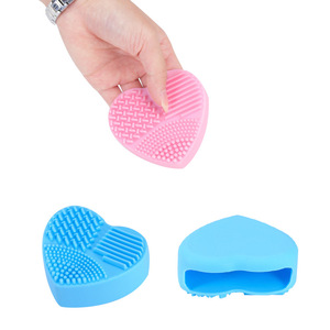 Image 5 - 1PC Silicone Fashion Heart Shape Egg Cleaning Glove Makeup Washing Brush Scrubber Tool Cleaners Cleaning Brush OK 0806