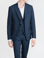 Custom Made Suits Dark Blue Wedding Man Suits For Men Bespoke Mens 3 Piece Suits Tailor