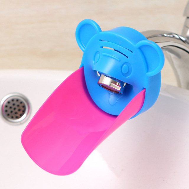 Baby Faucet Extender Cute Tiger Shape Baby Kids Hand Washing Sink ...