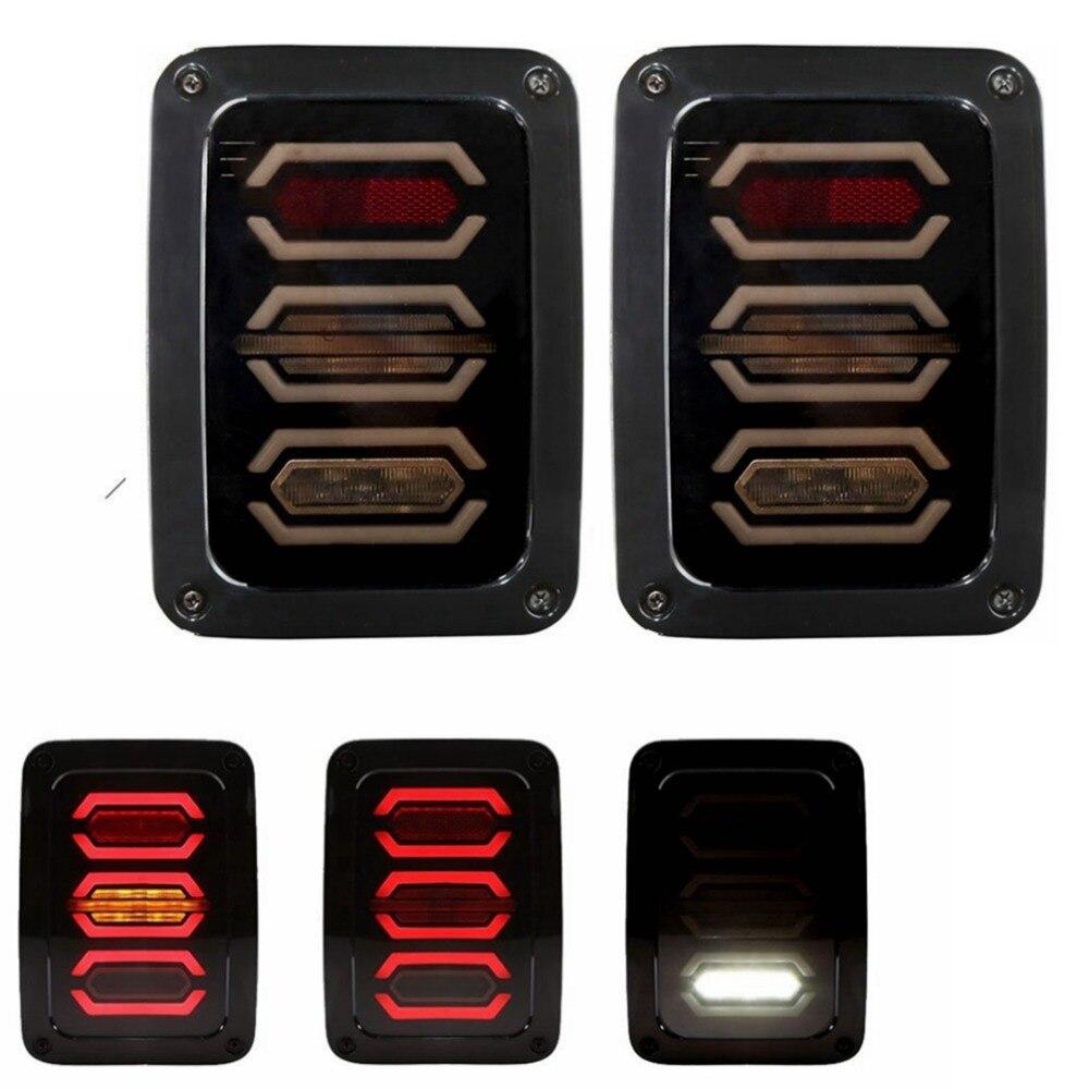СИД Диаманта хвост света заднего поворота стоп-сигнал для Jeep Вранглер JK, ЖЖ черный с прозрачной линзой