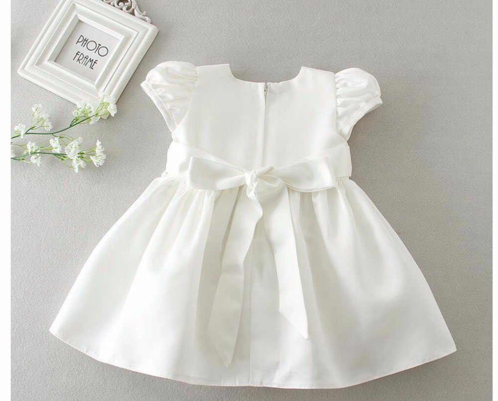 ad64ea0c0f6 2PCs per Set Beading Baby Girl Baptism Dress Off White Infant Girl  Christening Gown Embroidered Hat 0 24Months-in Dresses from Mother   Kids  on ...