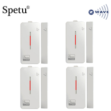 Spetu 4pcs/lot Z-wave Plus Smart Home Door/Window Contact Sensor Z wave Smart Home Automation Sensor EU 868.4MHZ