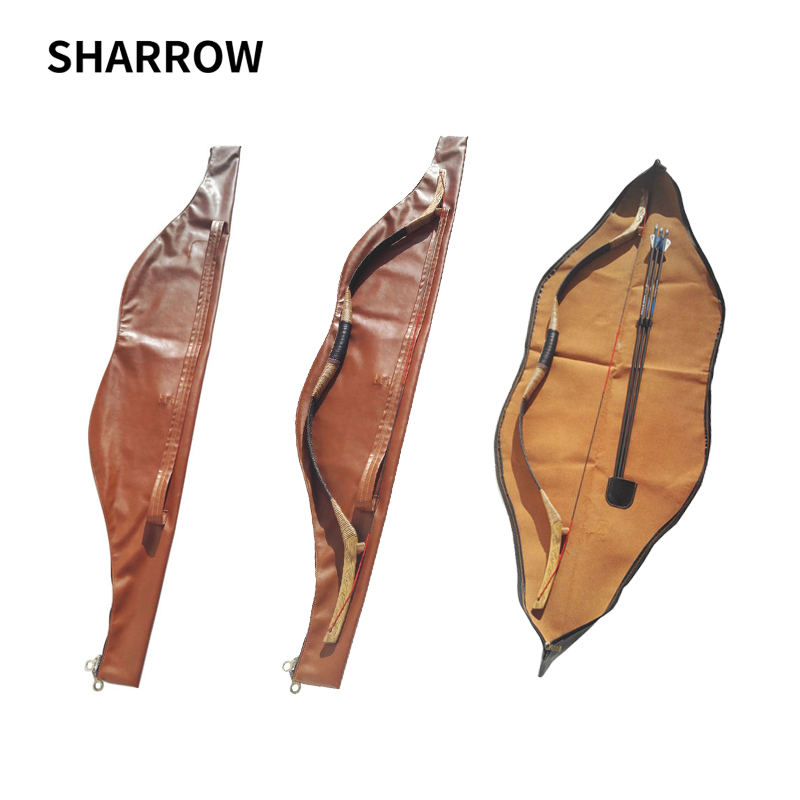 Archery Hunting Bow Bag Waterproof Longbow Holder 58 inch Recurve Hunting Bow Case Leather Archery Traditional Recurve Bow Bag dmar archery quiver recurve bow bag arrow holder black high class portable hunting achery accessories