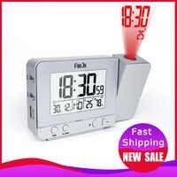 FanJu FJ3531 projecteur numérique réveil LED Table électronique Snooze rétro-éclairage température humidité montre avec Projection de temps