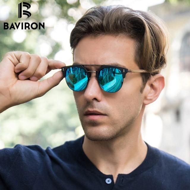 8feea6c881b BAVIRON 2018 Similar Wooden Sunglasses Men Polarized Retro Sunglasses  Unisex Polarized Wooden Sun Glasses Men with