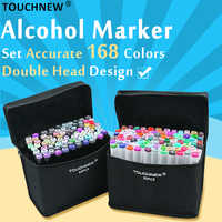 TOUCHNEW 168 Colors Art Markers Pen For Sketching Alcohol Based Manga Drawing Markers Dual Head Pens Art Supplies
