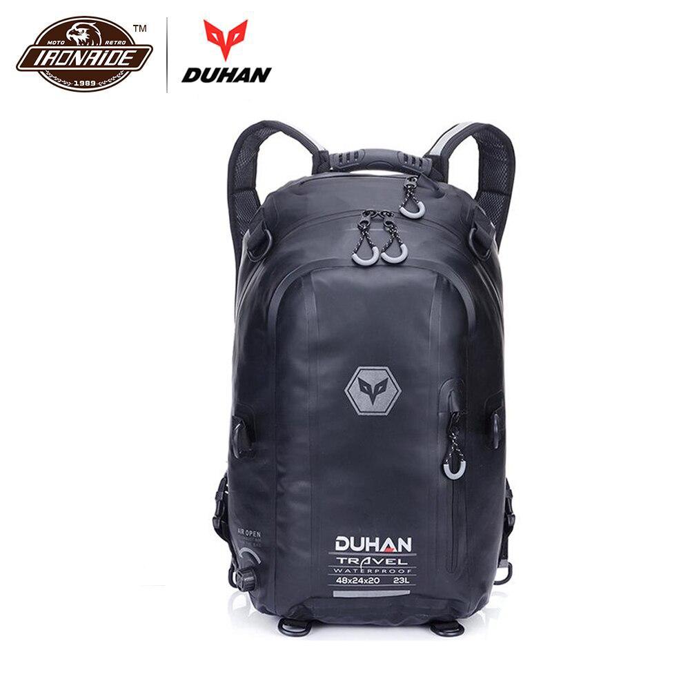 DUHAN Black Motorcycle Bag Waterproof Motorcycle Backpack Touring Luggage Bag Motorbike Helmet Bags Moto Magnetic Tank
